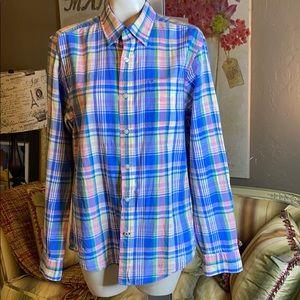 Tommy Hilfiger custom Fit Plaid Shirt Medium